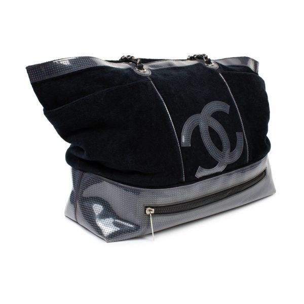 Blue Transparent Cotton Eponge Beach Bag by Chanel - Le Dressing Monaco