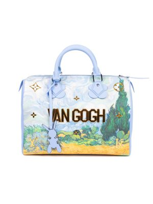 Blue Jeff Koons Masters Van Gogh Speedy Leather Handbag by Louis vuitton - Le Dressing Monaco