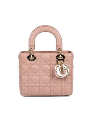 Pink Leather Lady Di Bag by Christian Dior - Le Dressing Monaco