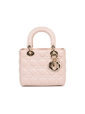 Nude Leather Charms Lady Di Bag by Christian Dior - Le Dressing Monaco
