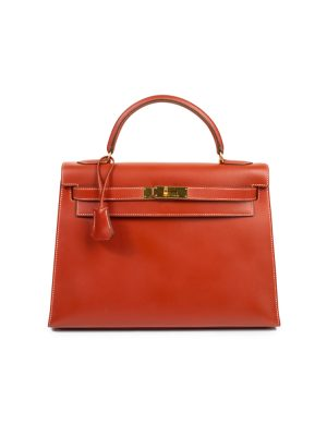 Kelly 32 Gold Chamonix Leather CC by Hermès - Le Dressing Monaco