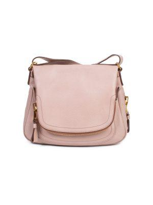 Jennifer Pink Leather Flap Shoulder Bag by Tom Ford - Le Dressing Monaco
