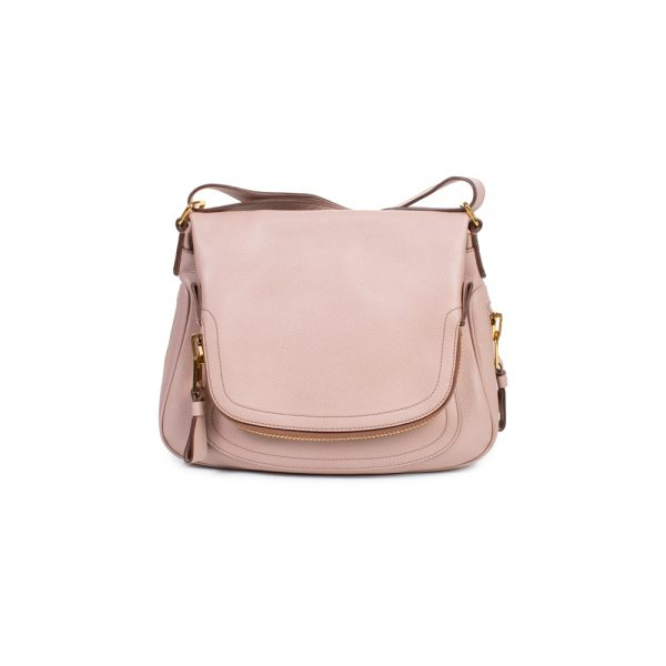 Pink Gold Zipped Leather Flap Shoulder Bag by Tom Ford - Le Dressing Monaco