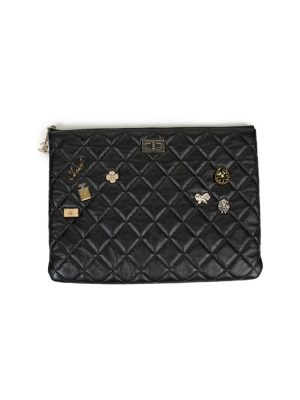 Black Lucky Charms Leather Wallet by Chanel - Le Dressing Monaco