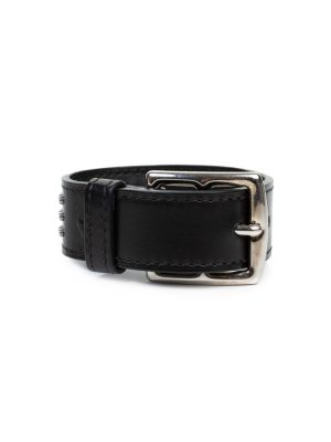 Black Metal Leather Bracelet by Hermes - Le Dressing Monaco