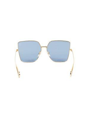 Blue Gold Octogonal Shaped Sun Glasses by Gucci - Le Dressing Monaco