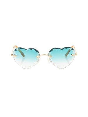 Blue Heart Shaped Sun Glasses by Chloe - Le Dressing Monaco