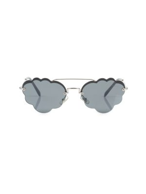 Grey Cloud Shaped Sun Glasses by Miu Miu - Le Dressing Monaco
