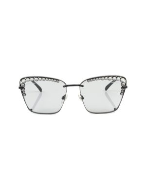 Black Pearl Embellished Sun Glasses by Chanel - Le Dressing Monaco