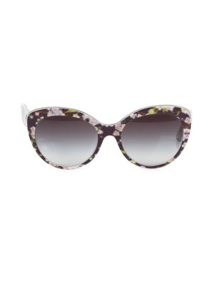 Brown Flower Printed Sun Glasses by Dolce e Gabbana - Le Dressing Monaco