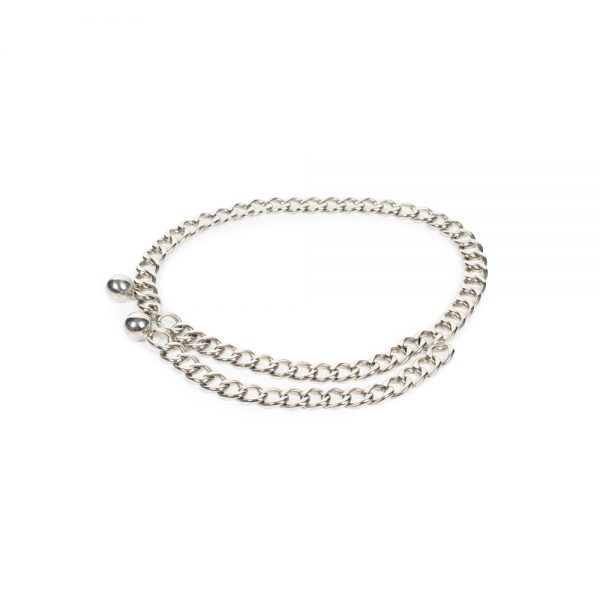 Silver Colored Chain Belts by Chanel - Le Dressing Monaco