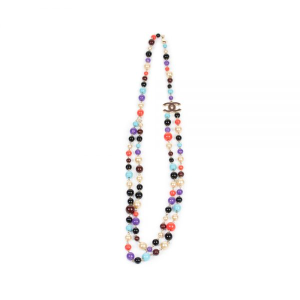 Multicolored Double Pearl Necklace by Chanel - Le Dressing Monaco
