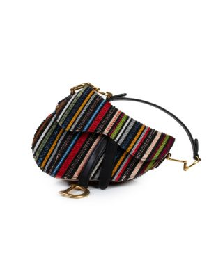 Multicolored Embroidered Saddle Bag by Christian Dior - Le Dressing Monaco