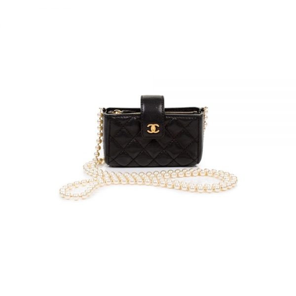 Quilted Pearl Chain Love Symbols Mini Bag by Chanel - Le Dressing Monaco