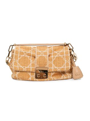 Beige Off-White Raffia Shoulder Bag by Chanel - Le Dressing Monaco