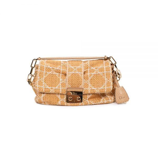 Beige Off-White Raffia Shoulder Bag by Chanel - Le Dressing Monaco
