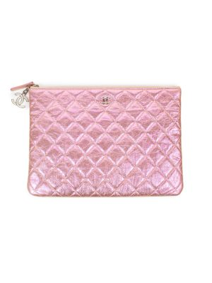 Pink Iridescent Leather Pochette by Chanel - Le Dressing Monaco Url preview:https://ledressingmonaco.com › Pink-Iridescent-Leather-Pochette