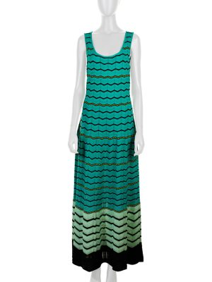 Green Black Knitted Dress by M Missoni - Le Dressing Monaco