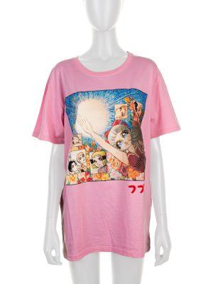 Pink Manga Printed Oversize Tee-shirt by Gucci - Le Dressing Monaco