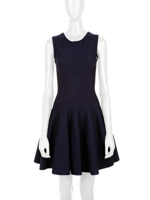 Blue Knit Midi Stretch Dress by Alaia - Le Dressing Monaco