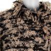 Black White Lurex Iridescent Coat by Chanel - Le Dressing Monaco