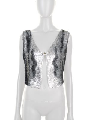 Silver Metal Embellished Vest by Chanel - Le Dressing Monaco