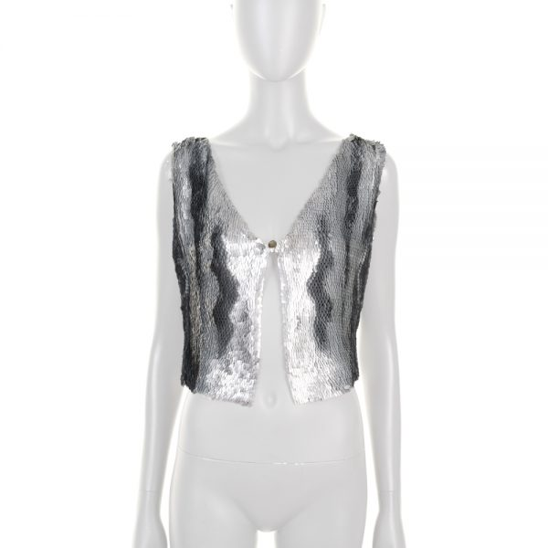 Silver Metal Embellished Vest by Chanel - Le Dressing Monaco