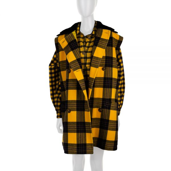 Yellow Black Tartan Shirt and Jacket by Gianni Versace - Le Dressing Monaco