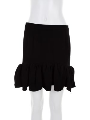 Black Mini Ruffle Skirt by Balenciaga- Le Dressing Monaco