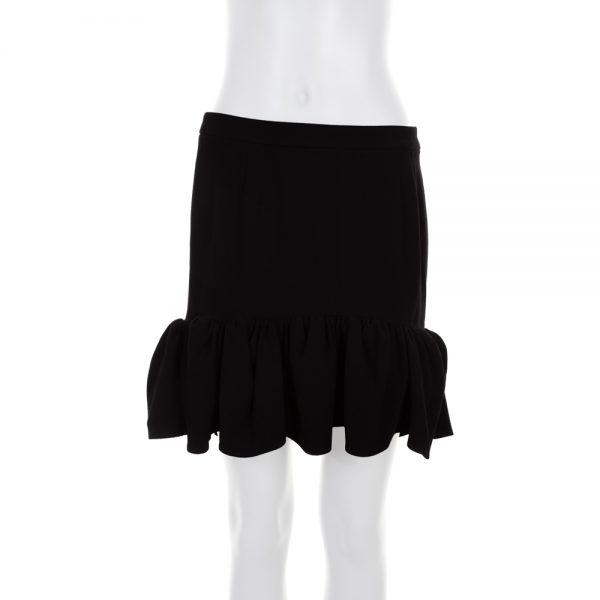 Black Mini Ruffle Skirt by Balenciaga- Le Dressing Monaco