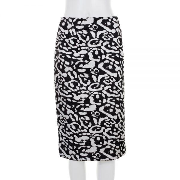 Black White Midi Pencil Skirt by Christian Dior - Le Dressing Monaco