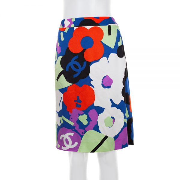 Multicolored Vintage Flower Pattern Skirt by Balenciaga- Le Dressing Monaco