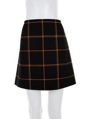Black Orange Stripped Mini Skirt by Hermès- Le Dressing Monaco