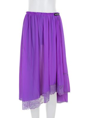 Purple Asymmetric Elastic Waist Lace Skirt by Balenciaga- Le Dressing Monaco