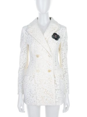 Off-White Badge Lace Jacket by Ermanno Scervino- Le Dressing Monaco
