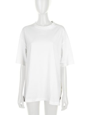 White Embroidered Oversized Tee-Shirt by Balenciaga - Le Dressing Monaco