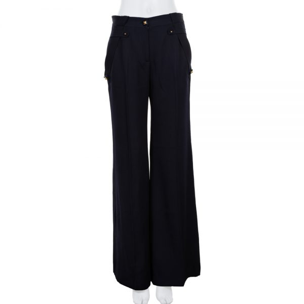 Black Gold Studded High Waist Pants by Givenchy - Le Dressing Monaco