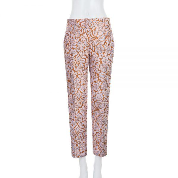Pink Gold Brocart Printed Pants by Prada - Le Dressing Monaco