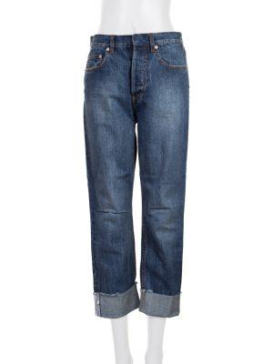 Blue 3/4 Boyfriend Cuff Jean by Christian Dior - Le Dressing Monaco