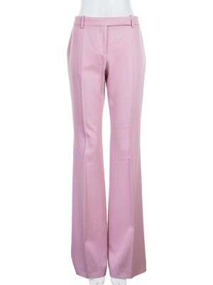 Pink Large Mid Rise Pants by Alexander McQueen - Le Dressing Monaco