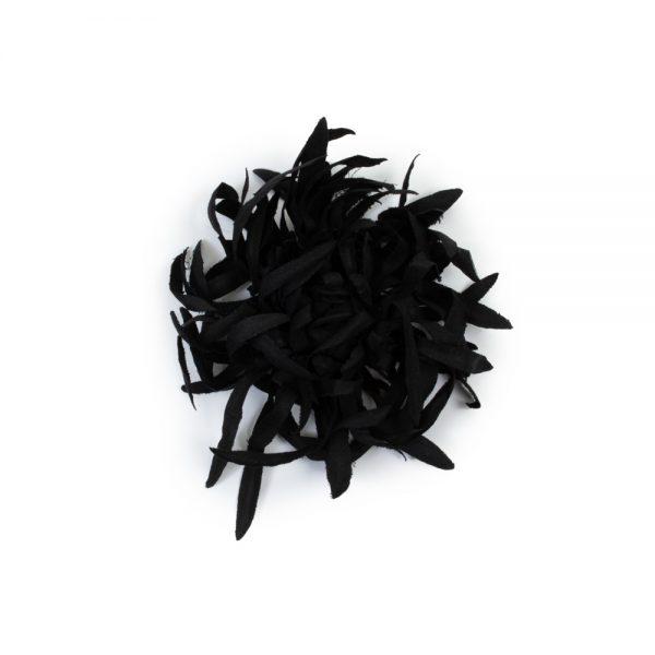 Black Chrysantheme Flower Brooch by Chanel - Le Dressing Monaco