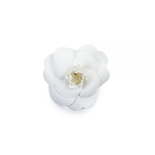White Camellia Brooch by Chanel - Le Dressing Monaco