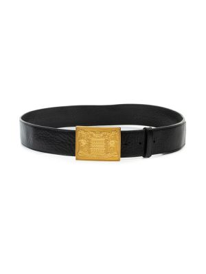 Black Leather Gold Buckle Belt by Fendi - Le Dressing Monaco