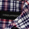 White Blue Red Stripped Puff Sleeved Shirt by Dsquared2 - Le Dressing Monaco