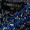 Blue Black Metallic Open Cardigan Jacket by Chanel - Le Dressing Monaco