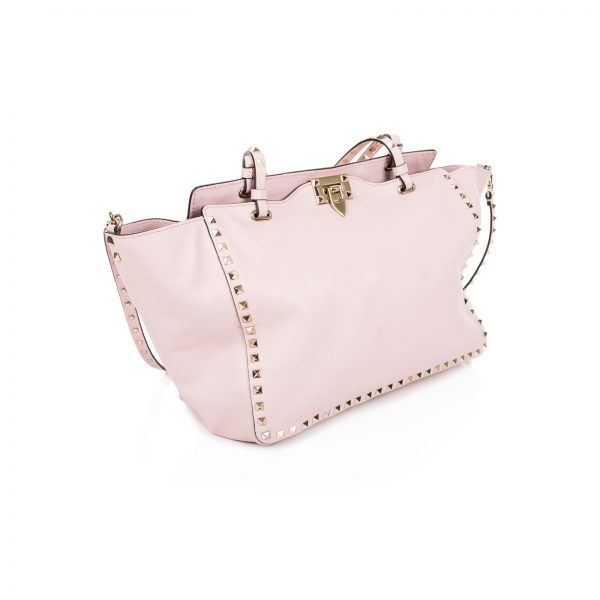 Pastel Pink Rockstuds Shopper by Valentino - Le Dressing Monaco