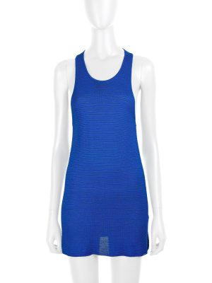 Blue Knitted Lurex Tank Top by Gucci - Le Dressing Monaco