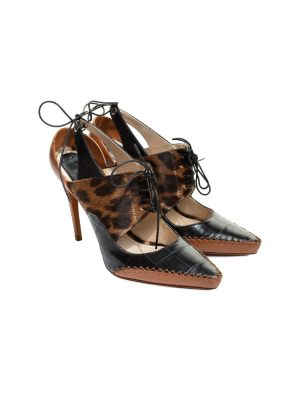 Brown Leopard Print Pointed Pumps by Christian Dior - Le Dressing Monaco