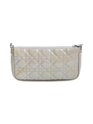 Cannage Patent Leather Chain Pochette by Christian Dior - Le Dressing Monaco