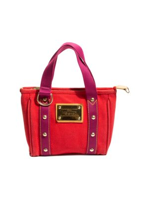 Red Canvas Antigua Mini Tote by Louis Vuitton - Le Dressing Monaco